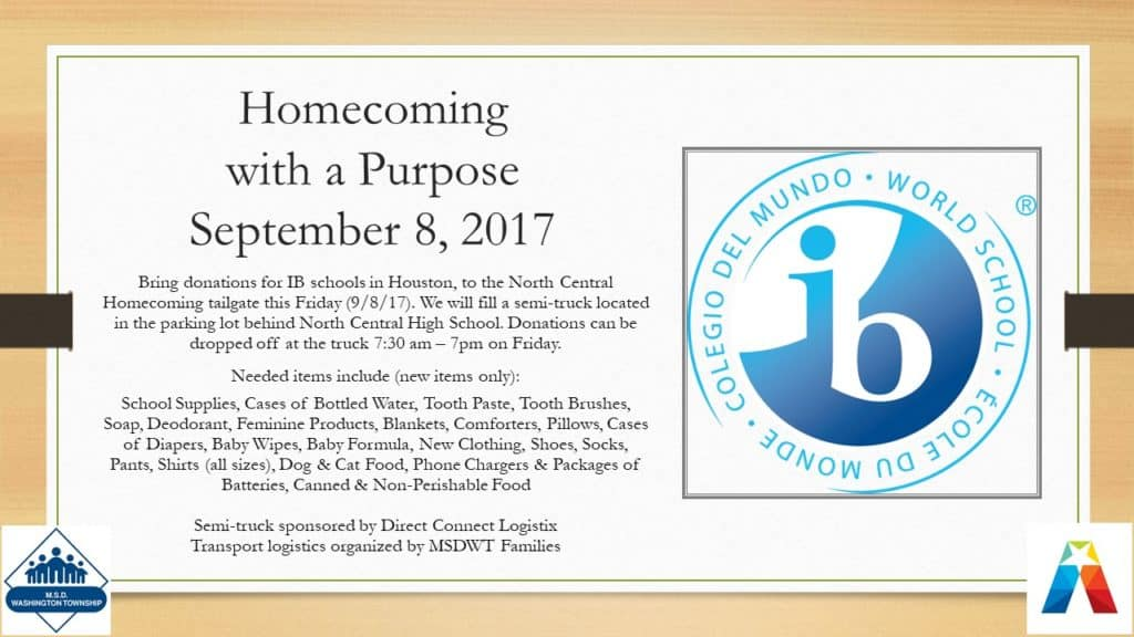 Homecoming & Hurricane Relief
